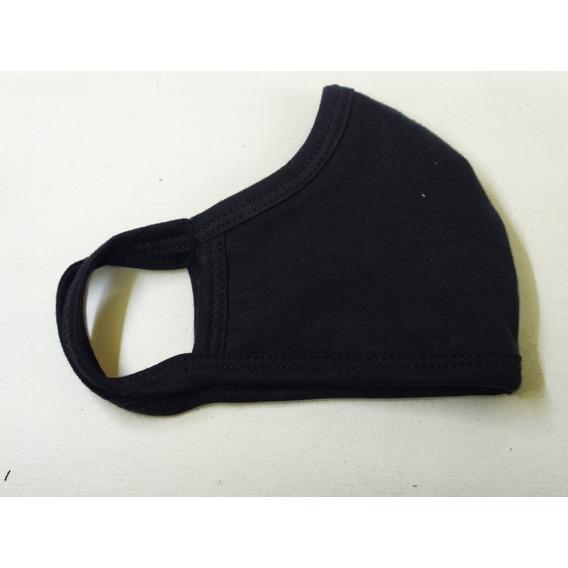 Tapaboca Algodón 4 Capas Lavable Negro