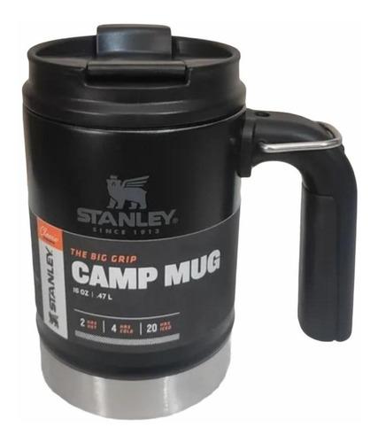 Caneca Stanley Preta Com Tampa Camp Mug 473ml