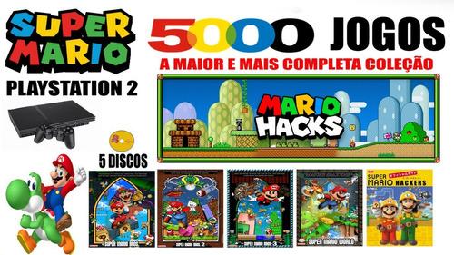 Super Mario Hacks - Playstation 2 - Com 5000 Jogos Coleção Final Completa.