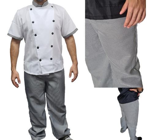 Calça Xadrez Chefe De Cozinha Gastronomia Restautante
