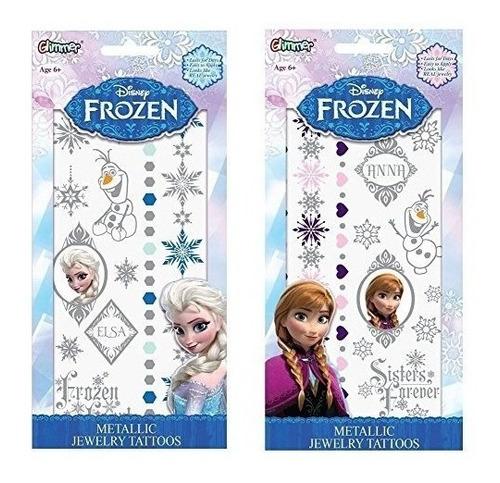 Kits De Tatuaje Temporal De Disney Frozen Elsa Y Anna