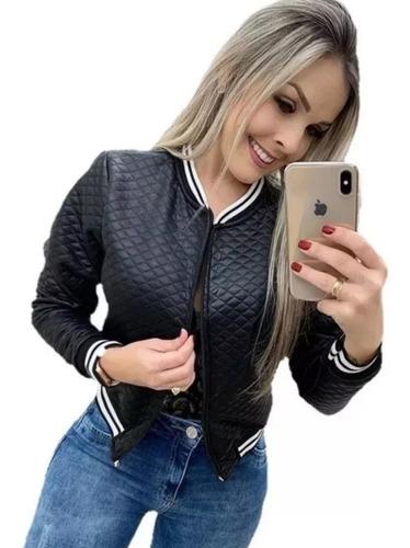 Jaqueta Bomber Blusa De Frio Outono Inverno Casaco Feminino