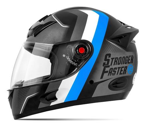 Capacete Moto Integral Fosco Etceter Stronger Faster