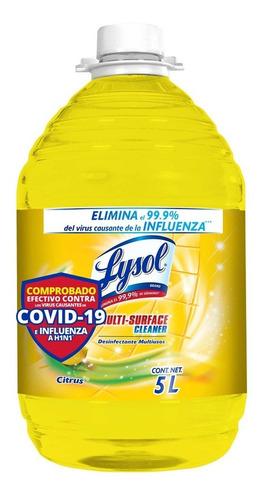 Lysol Desinfectante Multiusos Citrus, 5l