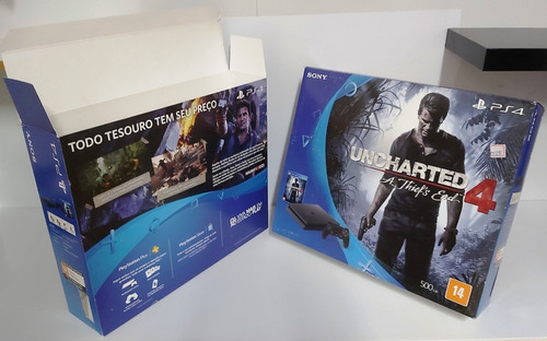 Capa Caixa Vazia Do Playstation 4 Slim Uncharted 4 Embalagem