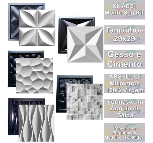 5 Formas De Gesso 3d Cimento Abs 1,3 Dunas Cullinans Floral