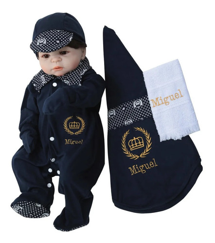 Kit Saída Maternidade Menino Personalizada Príncipe Azul