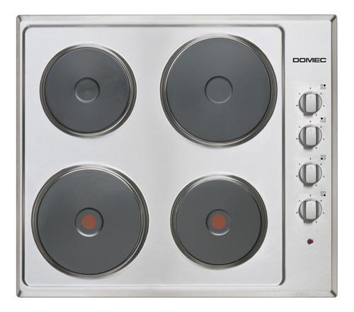 Anafe Eléctrico Domec Aexg Plateado 220v