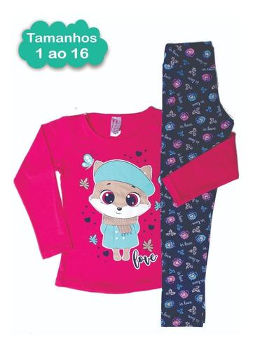 Kit 5 Conjunto Infantil Juvenil Menina Roupa Feminina 1 A 14
