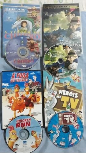 4 Dvd Viagem De Chihiro +castelo Animado +fuga Galinhas Va19