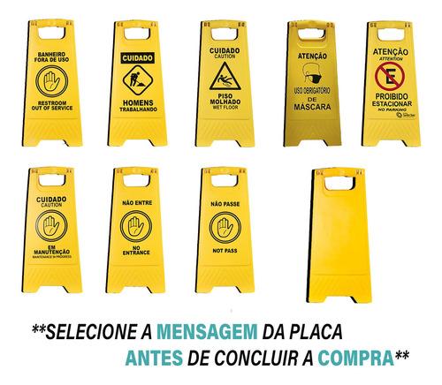 Placa Amarela De Chão Cavalete Com Várias Opçoes De Mensagem
