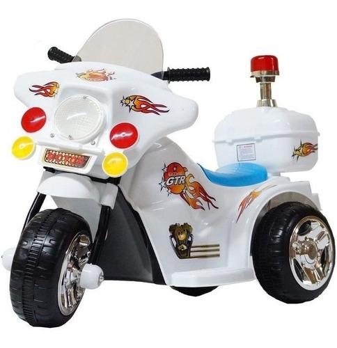 Moto Elétrica Infantil Triciclo Bombeiro Polícia 1 A 3 Anos
