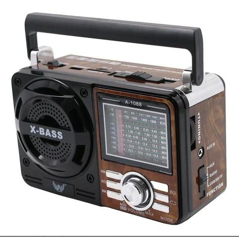Rádio Portátil Mp3 Usb Cartão Sd Sw Pen Drive Am Fm Retrô