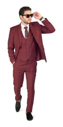 Terno Slim Masculino Paleto+calca+colete+barato*