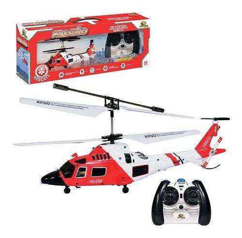 Mini Helicóptero De Controle Remoto Falcão 3 Canais Envio Já