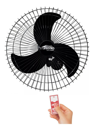 Ventilador Oscilante Parede 60cm Turbão Biv Controle Remoto