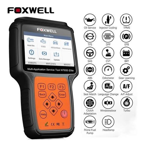 Scanner Automotriz Foxwell Nt650elite Abs Airbag Cuerpo Acel
