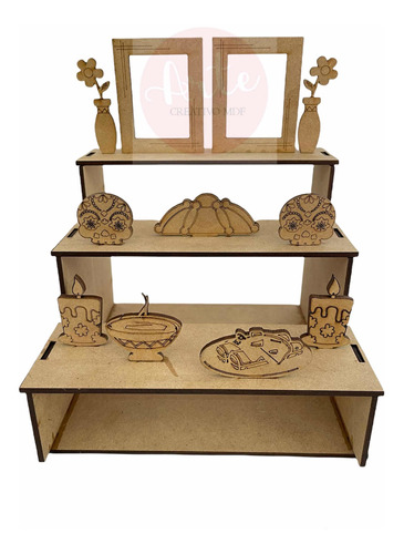 Altar Decorativo Ofrenda Día De Muertos Mdf Mini