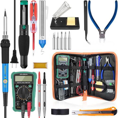 Soldador Digital De 60 W 200-450 De Temperatura Ajustable