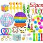 52pcs Pop It Sensory Fidget Brinquedos Fidget Spinners [u]