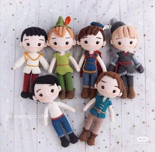 6 Patrones Principes Crochet Amigurumi Ingles Español