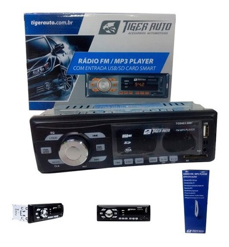 5 Peça Radio Tiger Player Usb Sd Card Usb P2 25x4