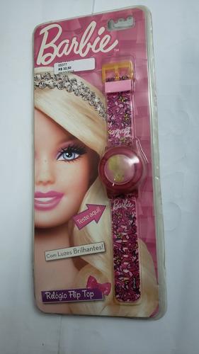 Relógio Infantil Barbie Flip Top
