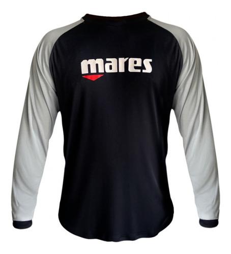 Camiseta Uv Mares - Preta E Cinza