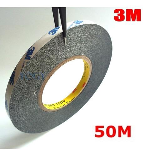 Cinta Doble Contacto 50m 3m 1mm 3mm 5mm Multiuso Reparacion