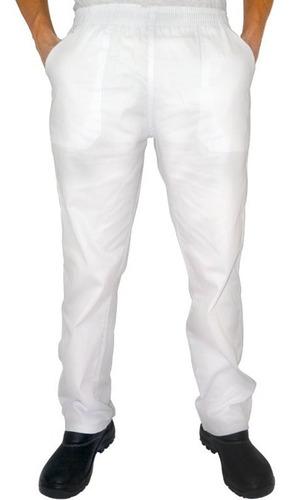 Calça Brim Sarja Uniforme Profissional Branca
