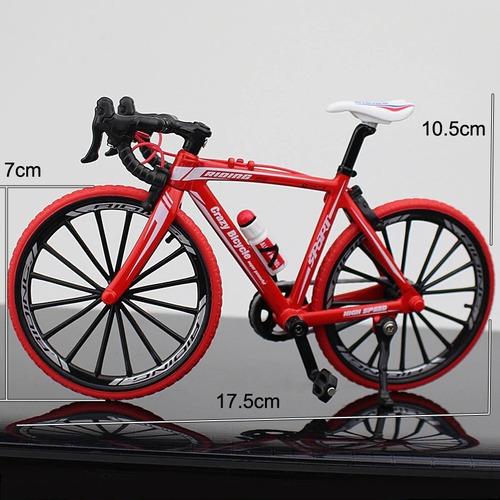 Miniatura Bike Speed Em Alumínio Serie 1:10 Die-cast Vermelh