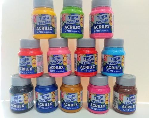 Pintura Para Tela Acrilex 37ml | Pintura Textil | Unidad