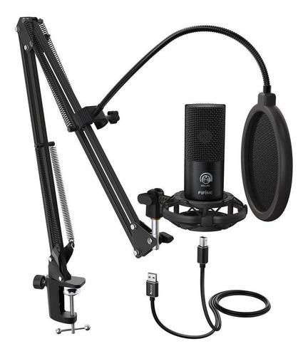 Micrófono Fifine T669 Condensador Cardioide Negro