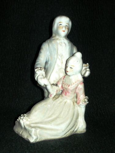 Pareja Adorno Loza-porcelana Sanita Altura 16,5cm, ¡linda!