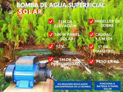 Bomba De Agua Solar Superficial 12v 180w 15m Elevación