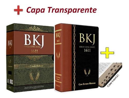 Bíblia Estudo Bkj King James1611 Estudo Holman índice capa