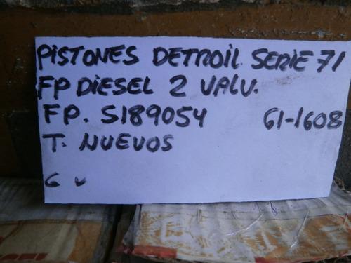 Repuestos Motor Detroil Diesel Pistones Serie 71 Std 2 Val