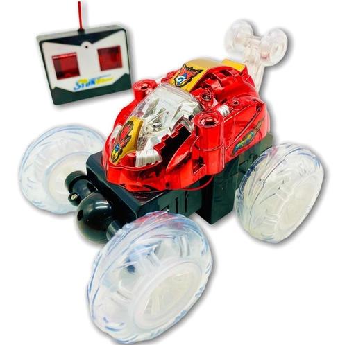 Carrinho Controle Remoto Maluco Carro Gira 360º C/ Luz E Som