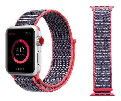 Pulseira Nova Nylon Loop Compatível Com Apple Watch E Iwo