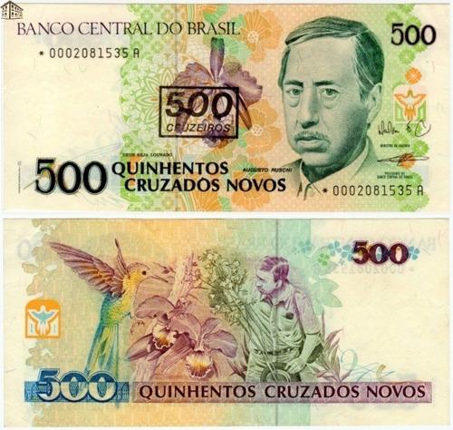 Cédula 500 Cruzados Novos - Novíssima
