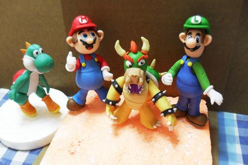 Topes De Tortas Masa Flexible - Mario Bross 1 Pieza