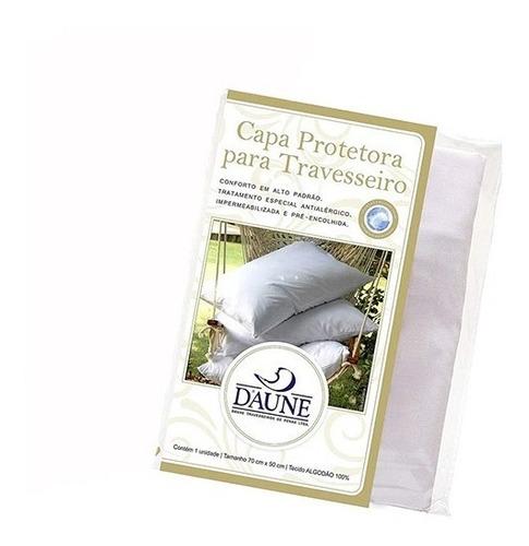 Capa Protetora De Travesseiro Impermeabilizada 100% Algodão