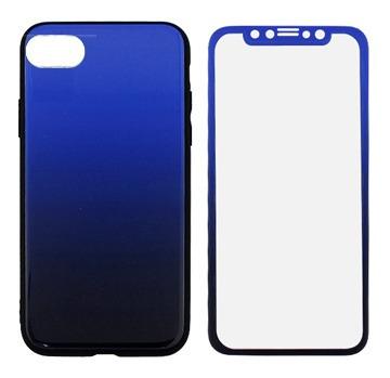 Protector iPhone 7/8/se 2020  Degrade Color Azul Y Negro