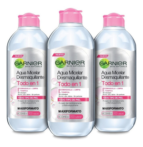 Kit Agua Micelar Garinier 3 X 400 Ml