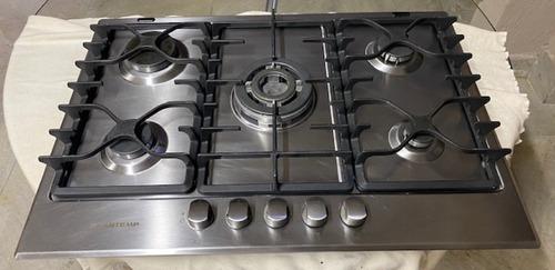 Fogão Cooktop A Gás Brastemp Bdk75 Inox 220v Made In Italy