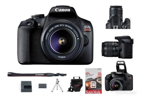 Canon Eos Rebel T7+ C/ Lente 18-55mm+sd 64g+bolsa+tripé +nf