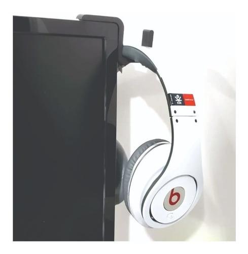 Suporte Fone De Ouvido Headset Headphone No Monitor Lcd Led