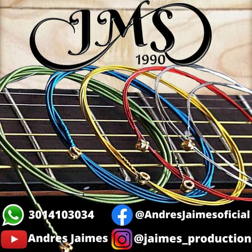 Cuerdas De Guitarra Electroacustica Jms Cuerdas De Colores