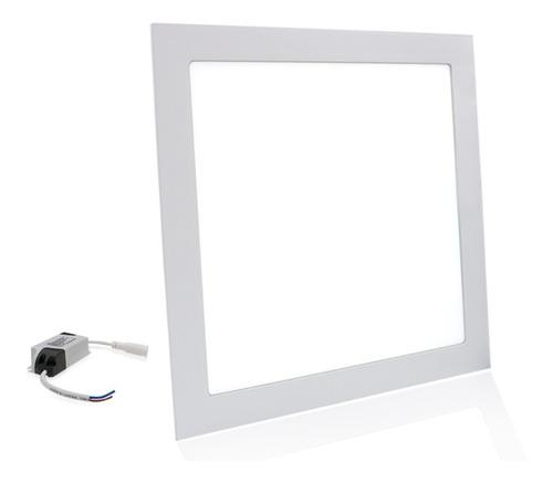 Painel Plafon Embutir Led 25w Quadrado Branco Frio