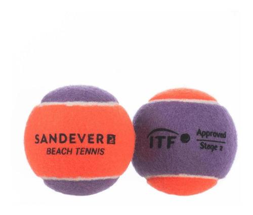 Bola De Beach Tennis Btb 900 (pack De 2) - Cor Roxo-laranja